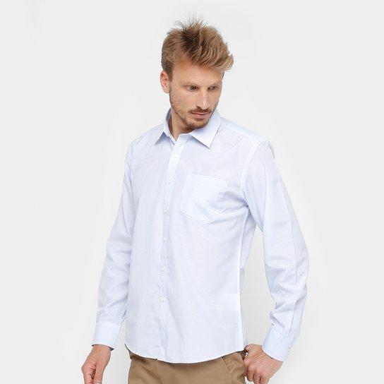 Camisa Social Blue Bay Manga Longa Bolso Masculina - Compre Agora ... 54dda0ac90181