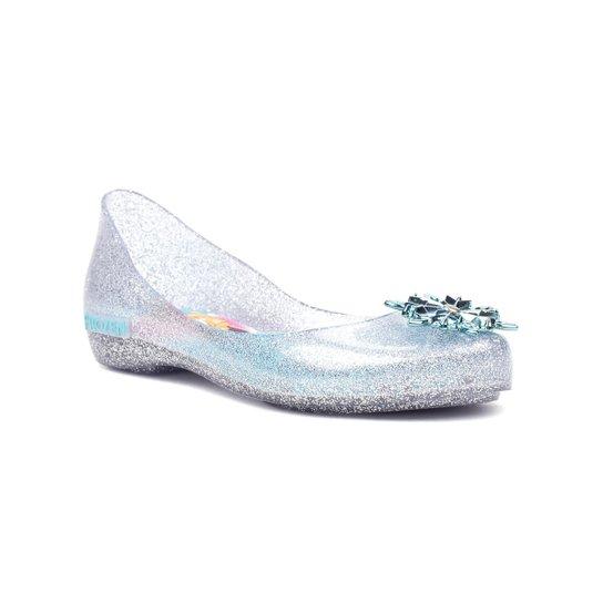 5554746666 Sapatilha Infantil Para Menina Disney Frozen Shine Prata azul - Azul