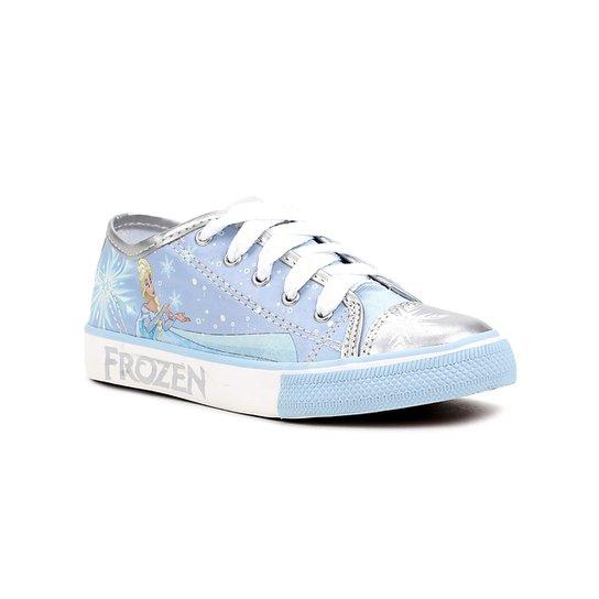 Tênis Infantil Para Menina Disney Frozen Azul - Azul - Compre Agora ... 87bb953a489a2
