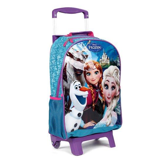 c73b897d504080 Mochila Escolar Frozen Disney Infantil Feminina - Azul