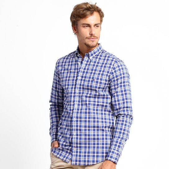 01f626276e Camisa Tommy Hilfiger Xadrez Slim Fit - Compre Agora
