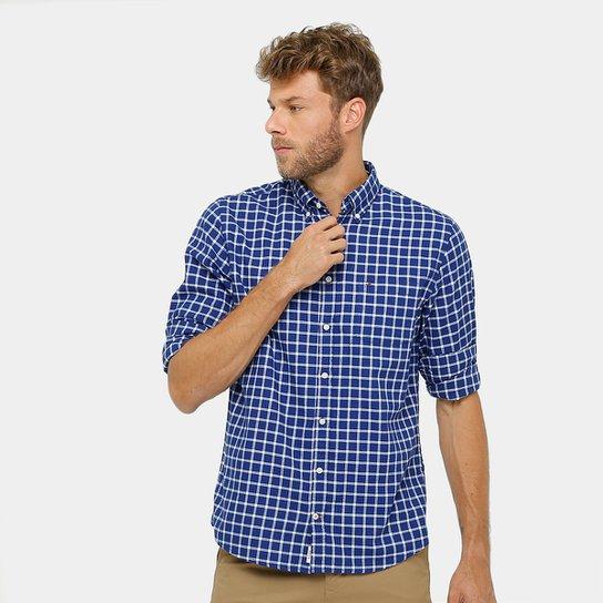 Camisa Xadrez Infantil Tommy Hilfiger Oxford Regular Fit Masculina - Marinho 2ab87d6836cd6