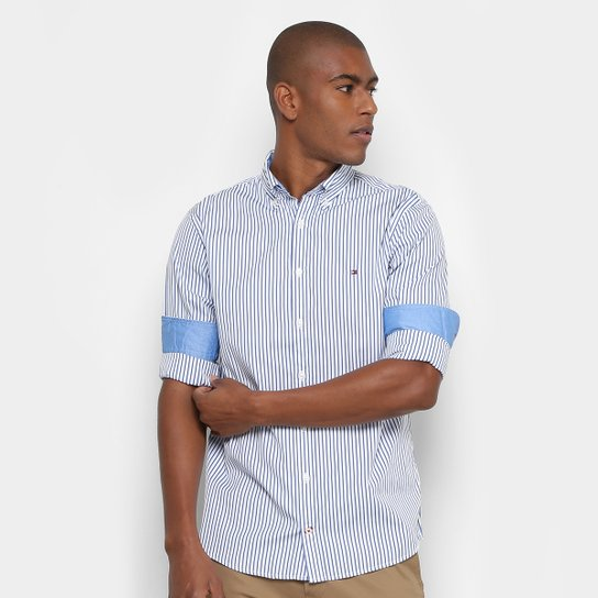 8a42959ec Camisa Tommy Hilfiger Regular Fit Listras Masculina - Compre Agora ...