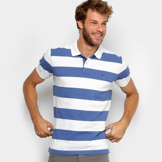 92a99eb3e8 Camisa Polo Tommy Hilfiger Regular Listrada Masculina - Compre Agora ...