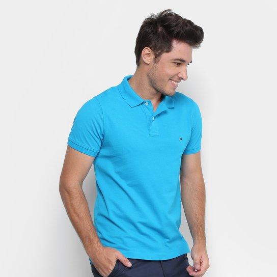 e4ea7069fc Camisa Polo Tommy Hilfiger Slim Fit Clássica Masculina - Compre ...