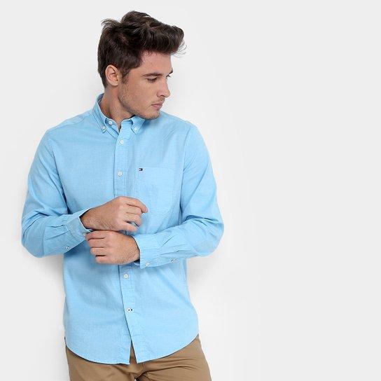 407866f32b Camisa Social Tommy Hilfiger Regular Fit Masculina - Compre Agora ...