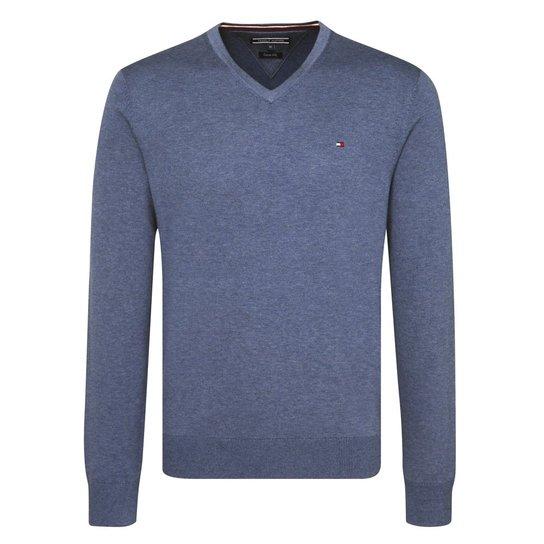 Suéter Masculino Tommy Hilfiger - Azul - Compre Agora  a457937abad3b