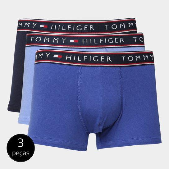 e634a182697f6c Kit de Cuecas Boxer Tommy Hilfiger 3 Peças - Azul