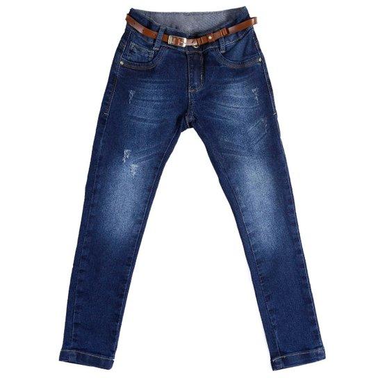 98f20485e Calça Jeans Skinny Feminina AKIYOSHI Infantil - Azul | Zattini