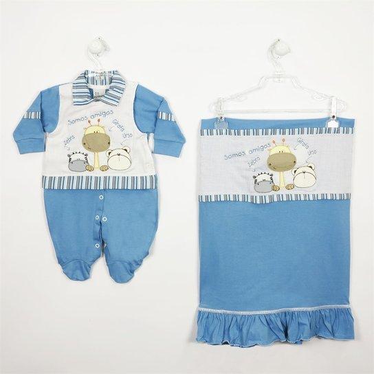 7d1323a4fb Saída de Maternidade Primeiro Mundo - Azul - Compre Agora
