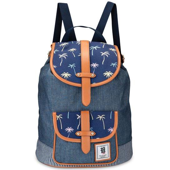 Bolsa Mochila Diec18cho - Azul - Compre Agora   Zattini 4212a791d9