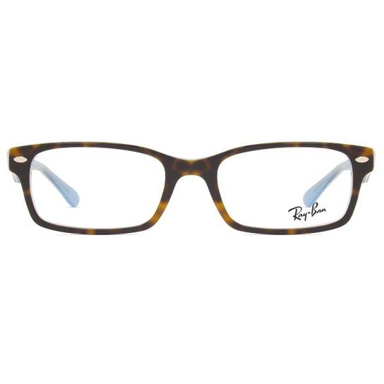 b702cc919bac2 Armação Óculos de Grau Ray Ban RX5206 5023-52 - Compre Agora