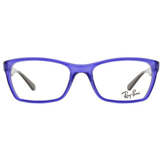 d47db8275dbad Armação Óculos de Grau Ray Ban RX7033L 5444-52 - Azul - Compre Agora ...