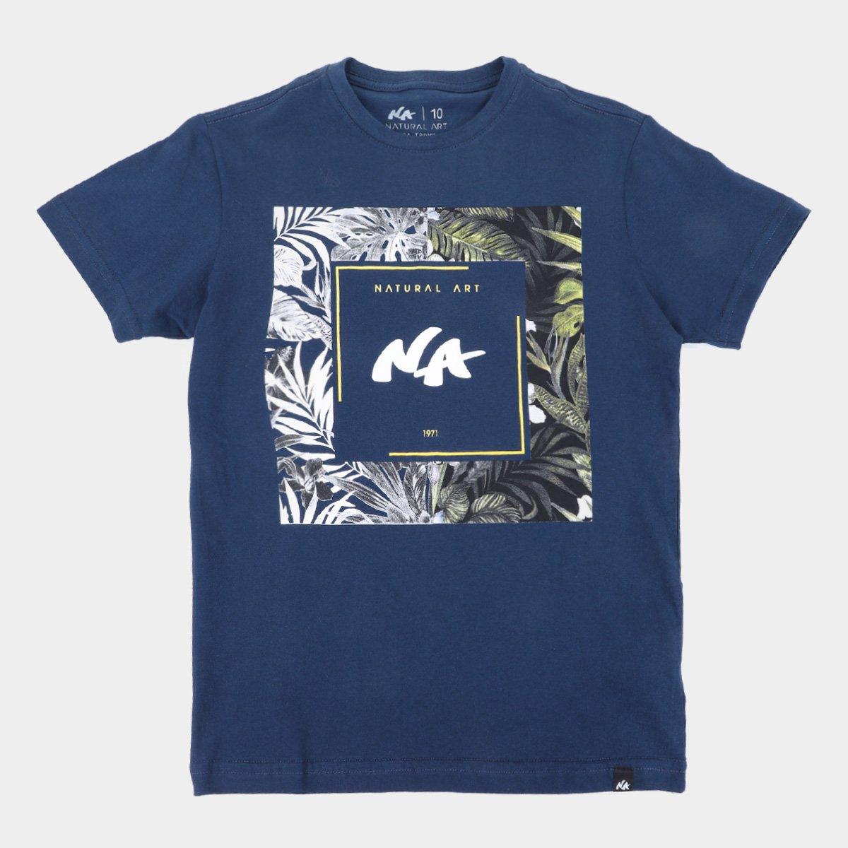 Camiseta Juvenil Natural Art Box