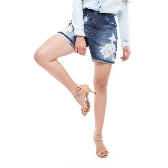 3a8f84b0cd Bermuda Meia Coxa Boy Denuncia Jeans - Compre Agora