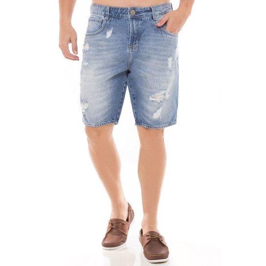 5d8a72d3d Bermuda Jeans Denúncia New Mid Drop Masculina - Compre Agora