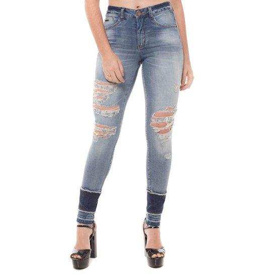 Calça Jeans Cigarrete Mid Rise Skinny Denúncia - Compre Agora  e0ad87e7bc4