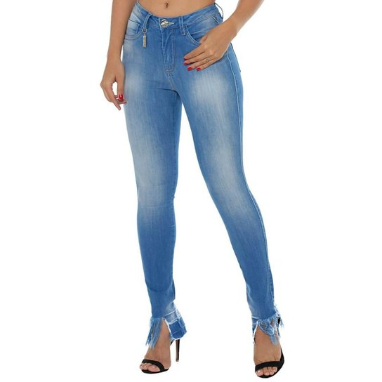 412b2e7f0 Calça Jeans Denuncia Mid Rise Skinny Feminina - Compre Agora | Zattini