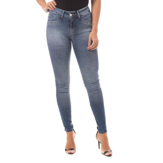 07a8db628 Calça Jeans Denuncia Mid Rise Skinny Feminina - Azul | Zattini