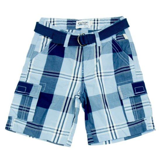 50a602c80ca97 Bermuda Infantil Hering Kids Com Cinto Masculino - Azul - Compre ...