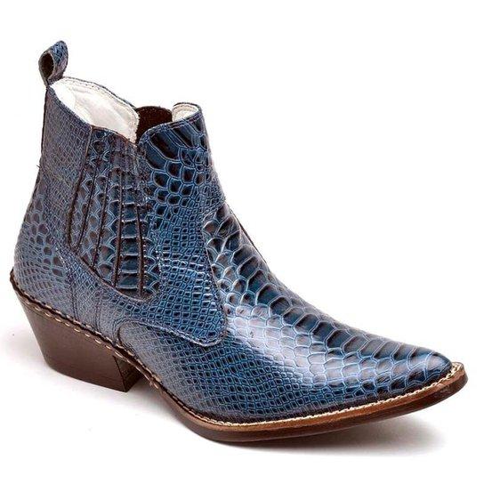 c723421dafa Bota Top Franca Shoes Country - Azul - Compre Agora
