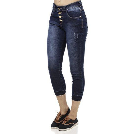 Calça Jeans Capri Feminina Cropped Azul - Compre Agora  1c4cf6a25ad3c