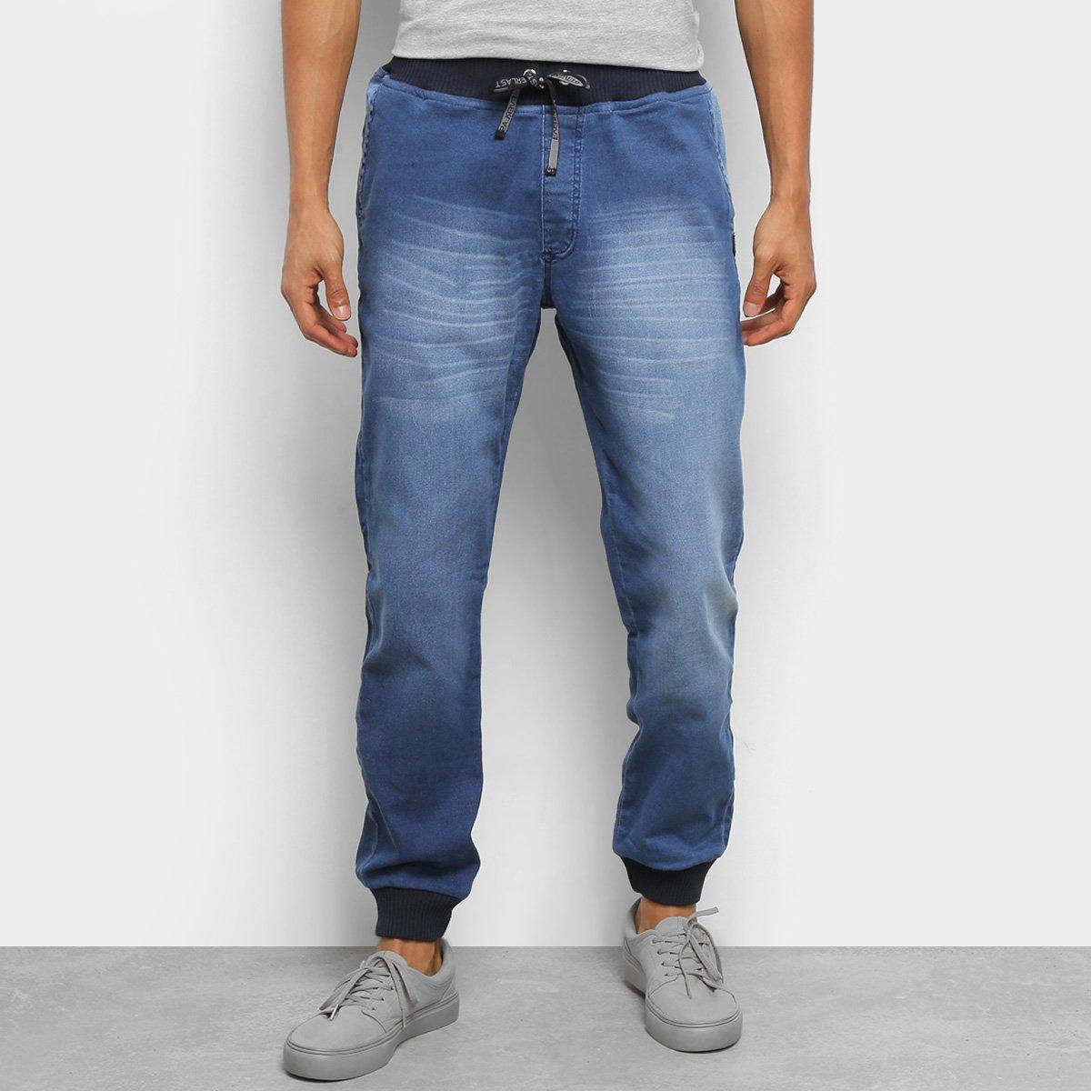 Calça Jeans Everlast Jogger Estonada Masculina