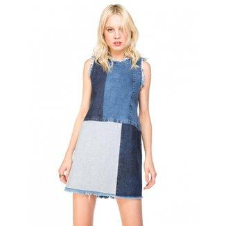 1f37359518 Vestido AMARO Jeans Com Patchwork
