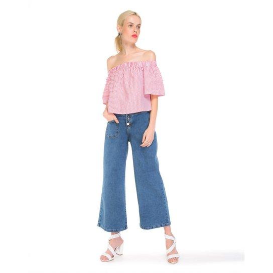 Calça Amaro Jeans Pantacourt Bolso - Compre Agora  6c3270018b2