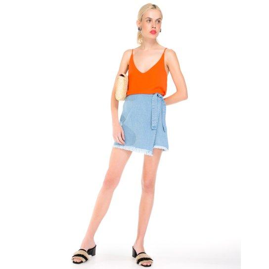 8ffc416b91 Saia Amaro Jeans Transpassada Amarração - Compre Agora