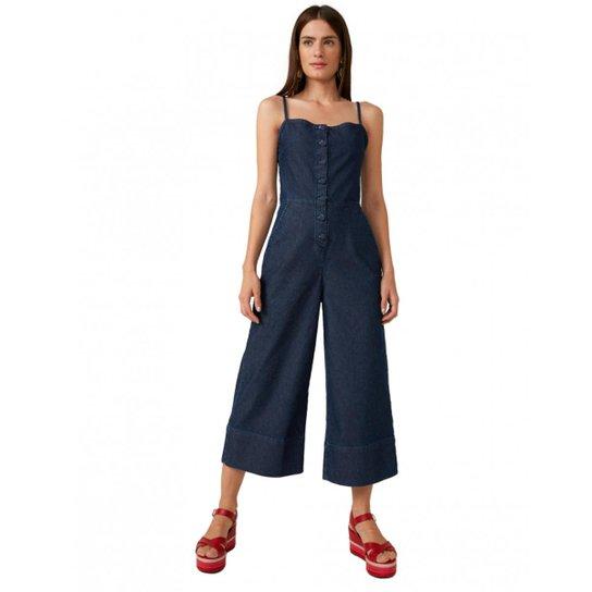 68fb13b9e Macacão Amaro Jeans Pantacourt Botões Feminino - Compre Agora | Zattini