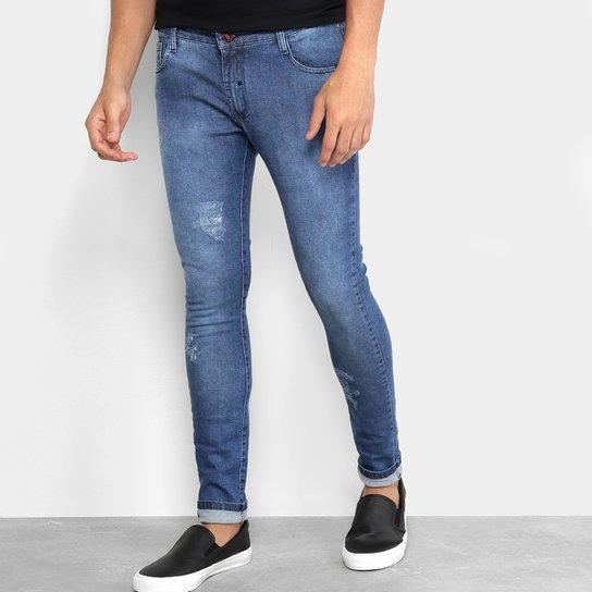 b50d69162 Calça Jeans Skinny Ecko Puídos Masculina - Azul | Zattini