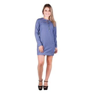Vestido Banna Hanna Jeans Com Bolso Jeans Azul 9182a7fe167