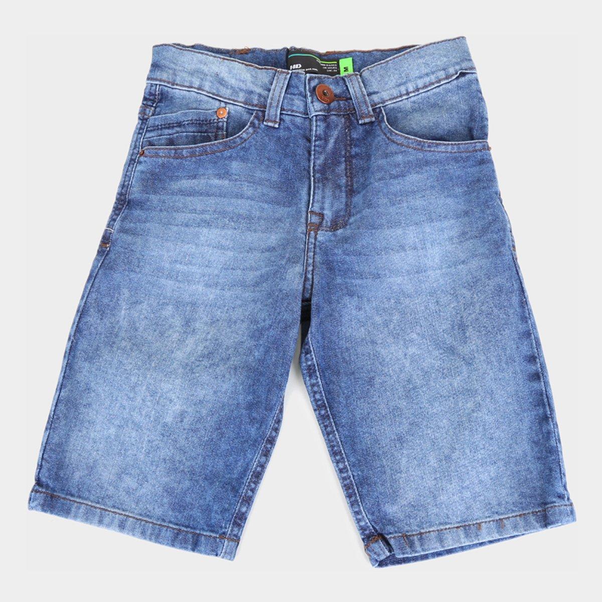 Bermuda Jeans Infantil HD Estonada Masculina