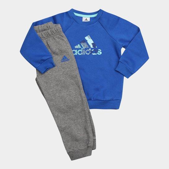 09d8dba93f161 Conjunto de Moletom Infantil Adidas Baby com Logo - Compre Agora ...