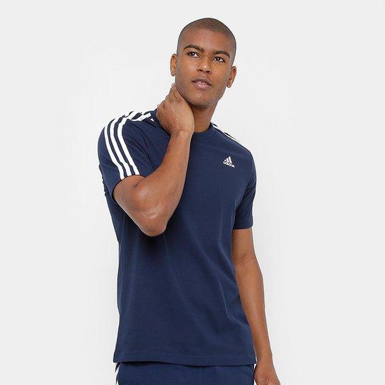 12f1455f4b7 Camiseta Adidas Ess 3S Masculina - Marinho - Compre Agora