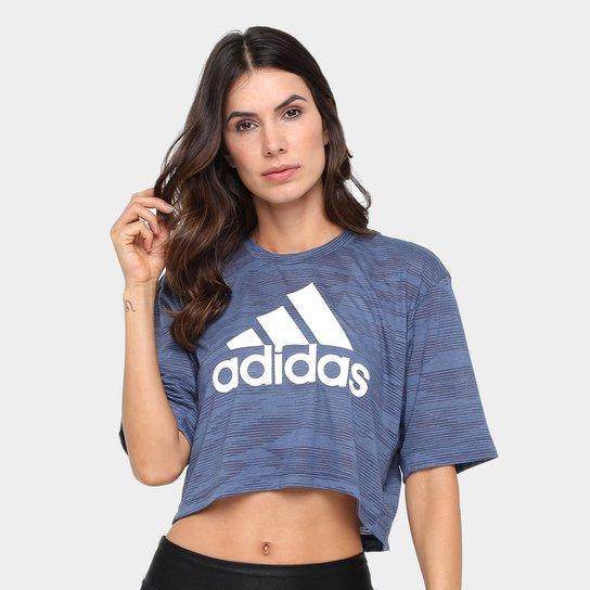 e254c99af8a Camiseta Cropped Adidas Boxy Aeroknit Feminina - Compre Agora