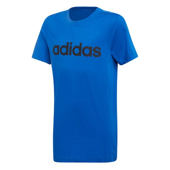 5172b0772c029 Camiseta Infantil Adidas Yb Lin Tee - Azul e Preto - Compre Agora ...