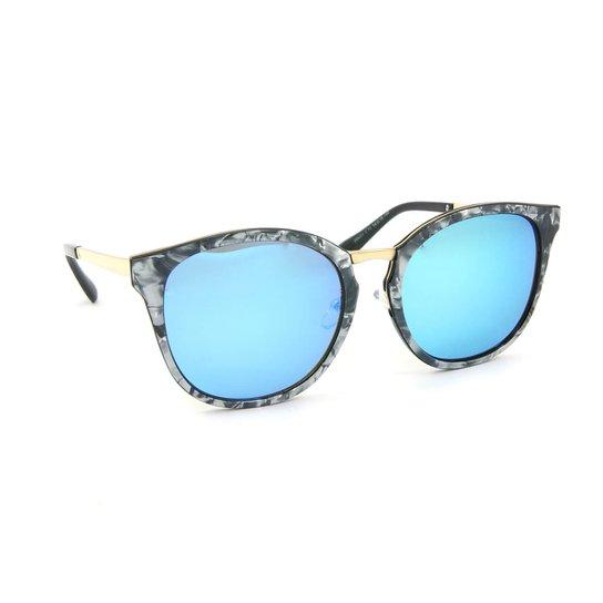 Óculos de Sol Marmorizado Lente espelhada - Azul - Compre Agora ... a5431d8ede