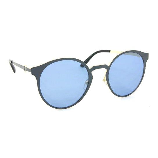 Óculos de Sol Dourado e com Lente - Azul - Compre Agora   Zattini 9842c03044