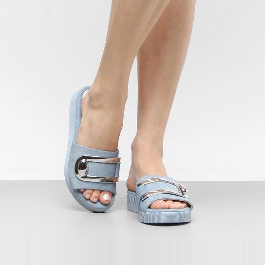 18132841fe Tamanco Ramarim Total Comfort Metal Feminino - Azul Claro