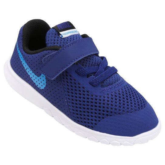 5e4edaf842b Tênis Infantil Nike Flex Experience 5 - Azul e Azul claro - Compre ...