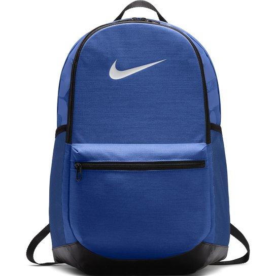 Mochila Nike Brasília - Azul e Preto - Compre Agora  c36fcb358c6