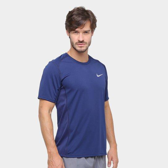 9adcc0f9a4 Camiseta Nike Dri-Fit Miler SS Masculina - Marinho - Compre Agora ...