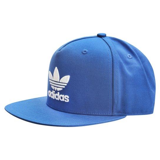 Boné Adidas Trefoil Flat - Azul - Compre Agora  3a9a80085cb