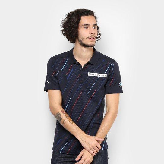 e06947adf4 Camisa Pólo Puma Graphic BMW Masculina - Azul - Compre Agora