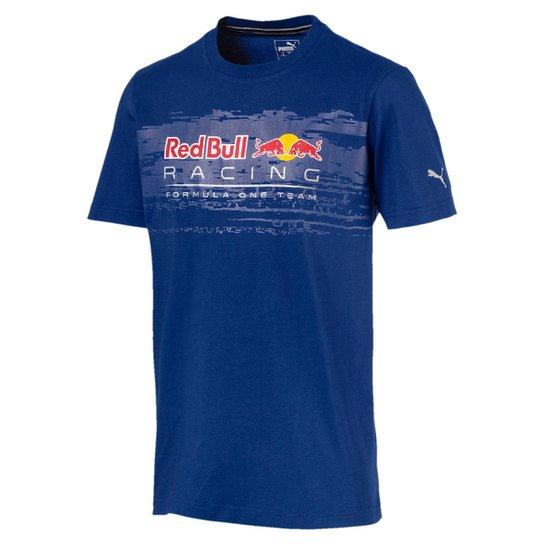 c3ea25805ff19 Camiseta Puma Red Bull Racing Logo Tee Masculina - Azul - Compre ...