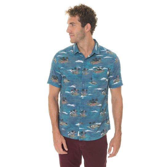 Camisa Timberland Vintage Beach Masculina - Azul - Compre Agora ... 1d3b88d2026