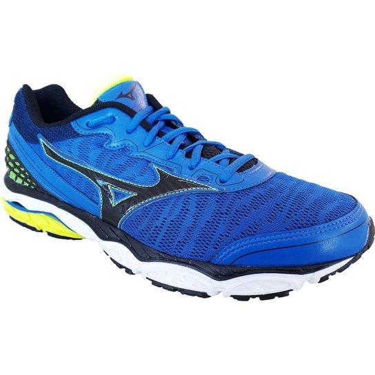 e671e0141c6 Tênis Mizuno Wave Mirai Masculino - Azul e Preto - Compre Agora ...