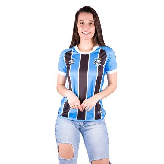 Camisa Grêmio Feminina Of.1 2017 - Umbro - Compre Agora  0169499ad530f